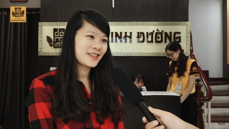 Chị Linh chữa mề đay sau sinh thành công tại nhà thuốc Đỗ Minh Đường