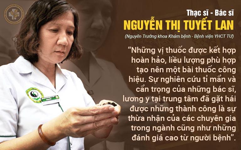 Bác sĩ Nguyễn Thị Tuyết Lan đánh giá Thanh hầu bổ phế thang