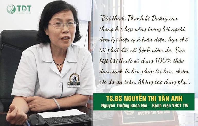 Đánh giá của bác sĩ Vân Anh về bài thuốc Thanh bì dưỡng can thang