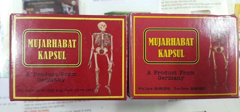 Thuốc uống xương khớp Malaysia Mujarhabat Kapsul
