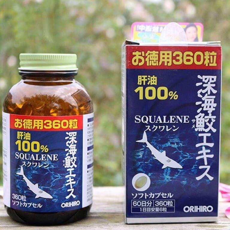 Thuốc trị đau lưng Orihiro Squalene (Sụn vi cá mập)