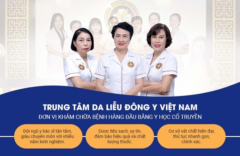 Trung tâm Da liễu Đông y Việt Nam là đơn vị uy tín khám chữa các bệnh viêm da bằng YHCT
