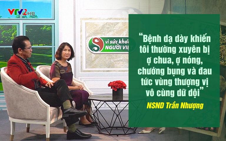 Chia sẻ của NS Trần Nhượng về bệnh dạ dày của mình