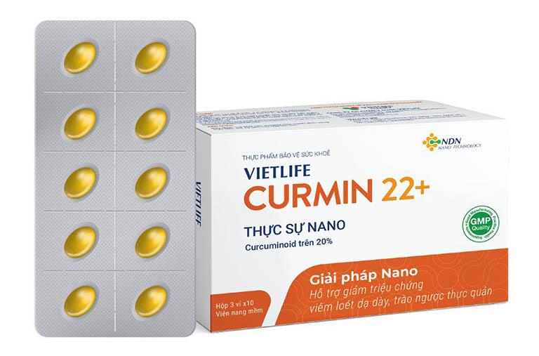 Curmin 22+ đang được bán với giá 290.000 VNĐ/ hộp 3 vỉ x 10 viên nang mềm.