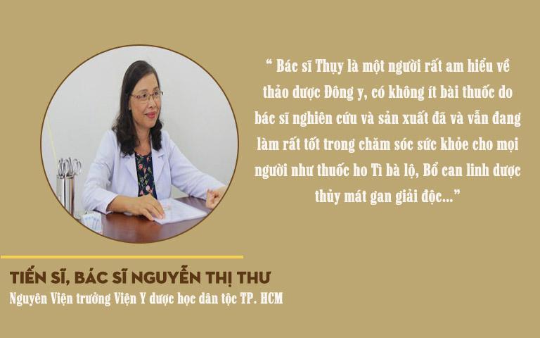 Đánh giá của Tiến sĩ, bác sĩ Nguyễn Thị Thư