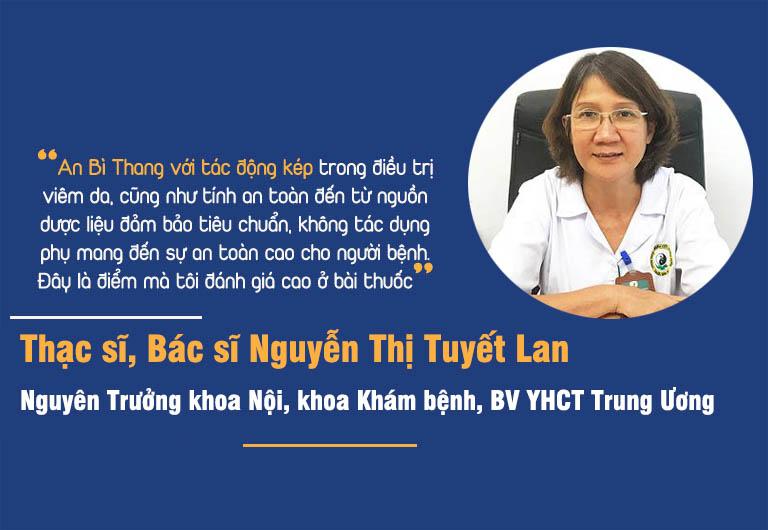 Bác sĩ Tuyết Lan nói về điểm tâm đắc với bài thuốc
