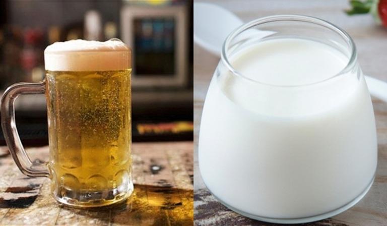 Mặt nạ bia và sữa tươi giúp phục hồi tóc hư tổn