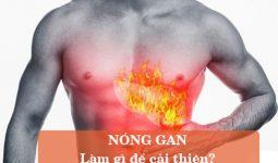 cách trị nóng gan tại nhà
