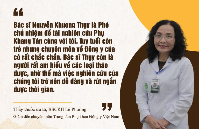 Thầy thuốc Ưu tú Lê Phương đánh giá cao về lương y Nguyễn Khương Thụy