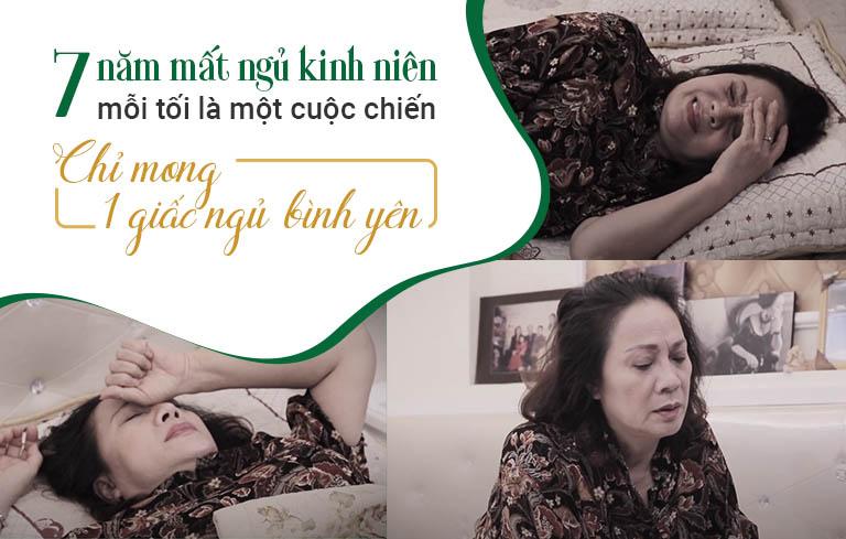 Nghệ sĩ Hương Dung chữa khỏi mất ngủ