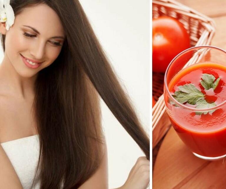 Dùng cà chua để làm dầu xả cho tóc tự nhiên