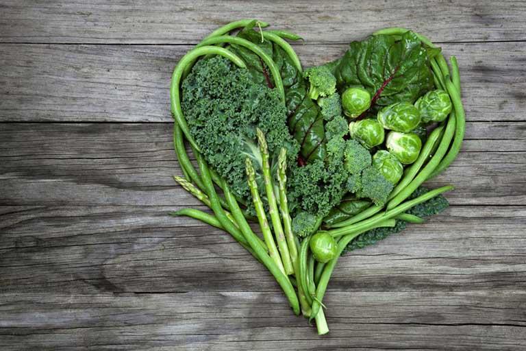 xơ gan nên ăn rau xanh