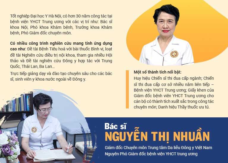 Bác sĩ Nhuần đã có hơn 40 năm kinh nghiệm, được nhiều bệnh nhân tin tưởng lựa chọn