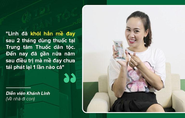 Diễn viên Khánh Linh khỏi hẳn bệnh mề đay chỉ sau 2 tháng dùng thuốc Tiêu ban Giải độc thang