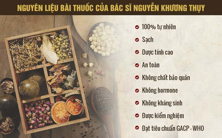 Nguyên liệu, thảo dược sạch chính là một trong những điểm làm nên sự uy tín của Trung tâm Sản phụ khoa Đông y Việt Nam