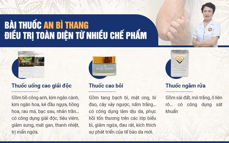 Bài thuốc An Bì Thang chữa á sừng với 3 chế phẩm