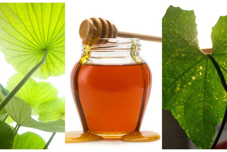 Dùng kết hợp khổ qua với lá khổ qua, lá sen và mật ong để cải thiện các vết thâm nám trên bề mặt da