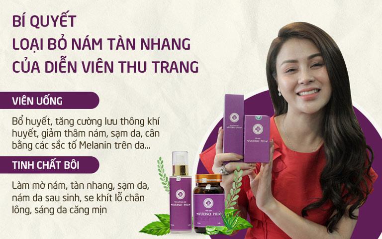 Công dụng của Bộ sản phẩm Nám Tàn nhang Vương Phi