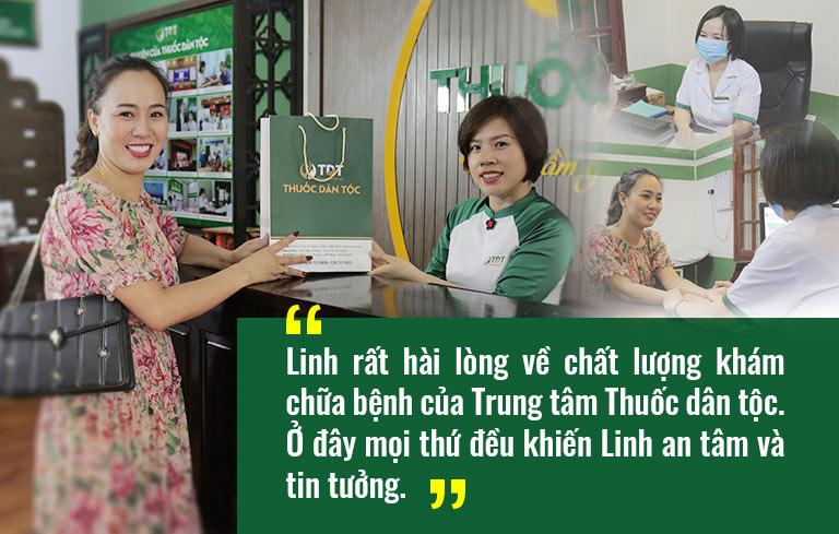 Nữ diễn viên Về nhà đi con Khánh Linh rất hài lòng với dịch vụ thăm khám chữa bệnh của Trung tâm Thuốc dân tộc