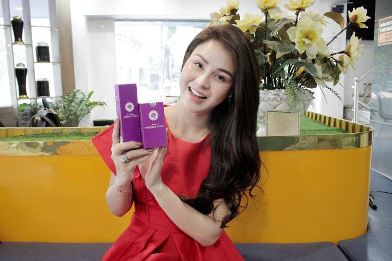Làn da trắng đẹp của Diễn viên Lương Thu Trang sau khi sử dụng Bộ sản phẩm Nám Tàn nhang Vương Phi