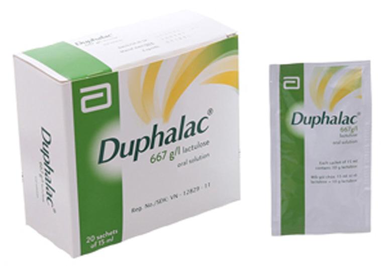Thuốc trị táo bón Duphalac có tác dụng làm mềm phân và đầy phân ra ngoài