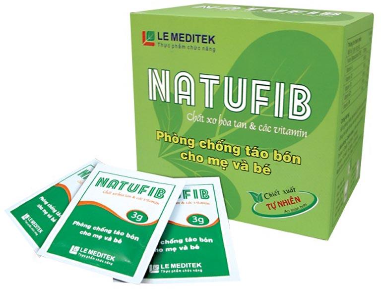 Natufib là thuốc vừa trị táo bón vừa cung cấp thêm vitamin cho cơ thể