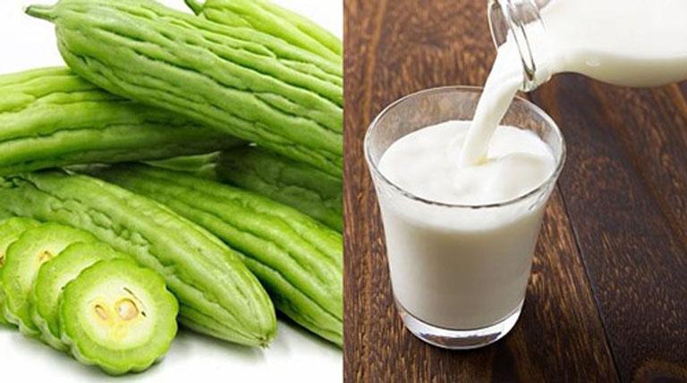 Kết hợp khổ qua với sữa tươi để điều chế thành mặt nạ trị nám