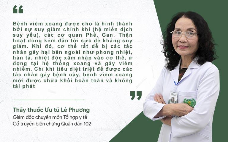 Bác sĩ Lê Phương nói về cơ chế điều trị viêm xoang