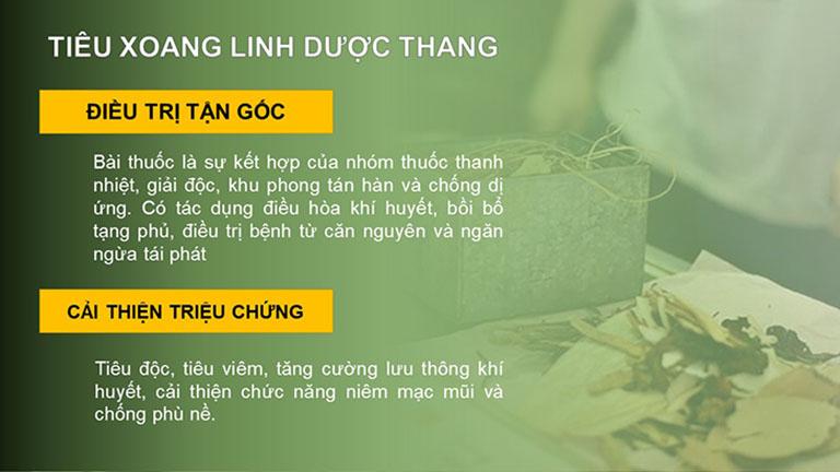 Bài thuốc Đông y Tiêu Xoang Linh dược thang