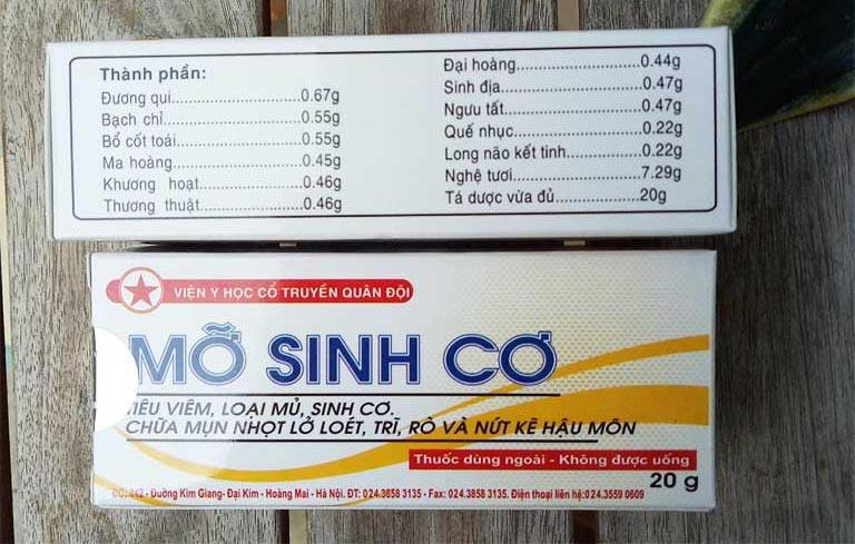 thuốc mỡ sinh cơ giá bao nhiêu