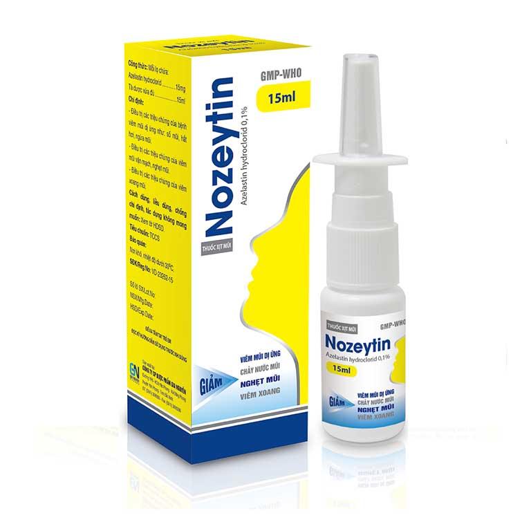thuốc trị viêm mũi dị ứng cho trẻ emNozeytin