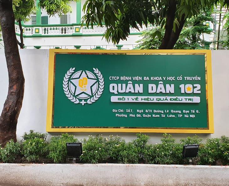 Bệnh viện Đa khoa YHCT Quân Dân 102 thành lập từ ngày 27/09/2020