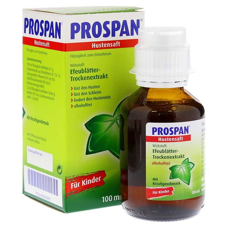 thuốc siro Prospan chữa ho sổ mũi cho bé