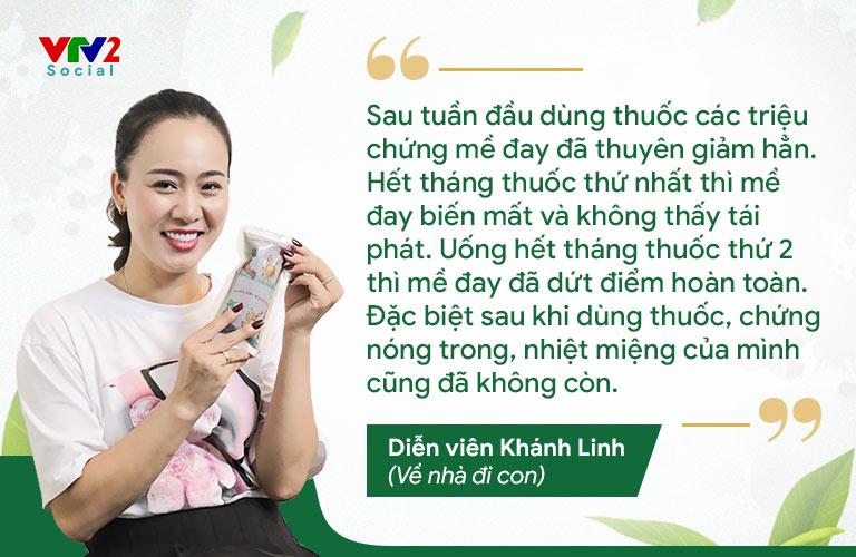 Diễn viên Khánh Linh hài lòng tuyệt đối khi khám chữa mề đay tại Trung tâm Thuốc dân tộc