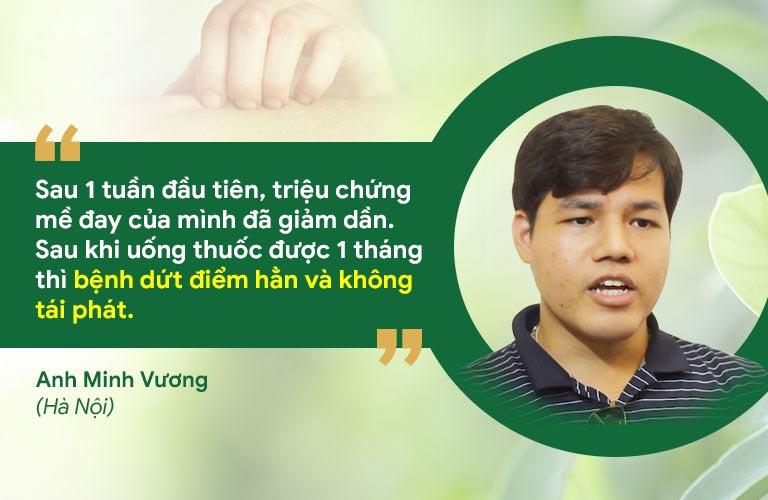 Anh Minh Vương phản hồi hiệu quả bài thuốc Tiêu ban Giải độc thang