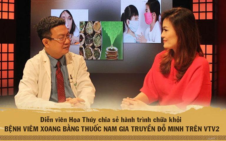 DV Hoa Thúy đã đánh giá về tác dụng chữa viêm mũi dị ứng, viêm xoang của bài thuốc Đỗ Minh Đường trên VTV2