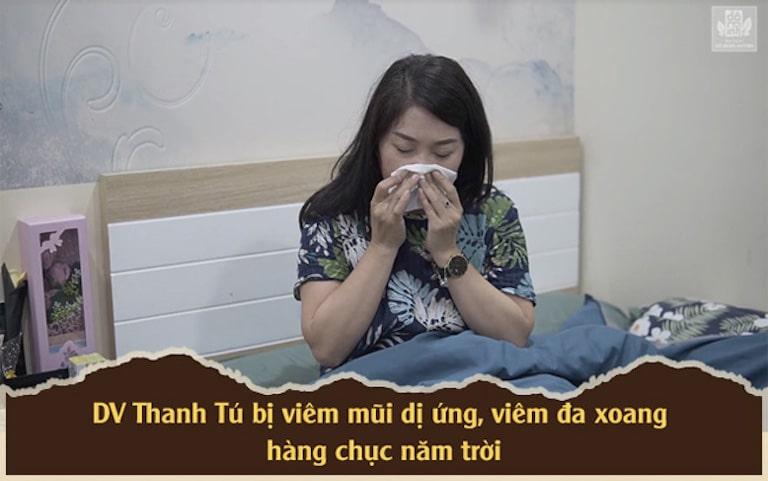 Diễn viên Thanh Tú bị căn bệnh viêm mũi dị ứng, viêm xoang ám ảnh nhiều năm trời