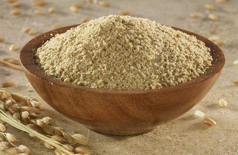 chữa dày sừng nang lông bằng cám gạo