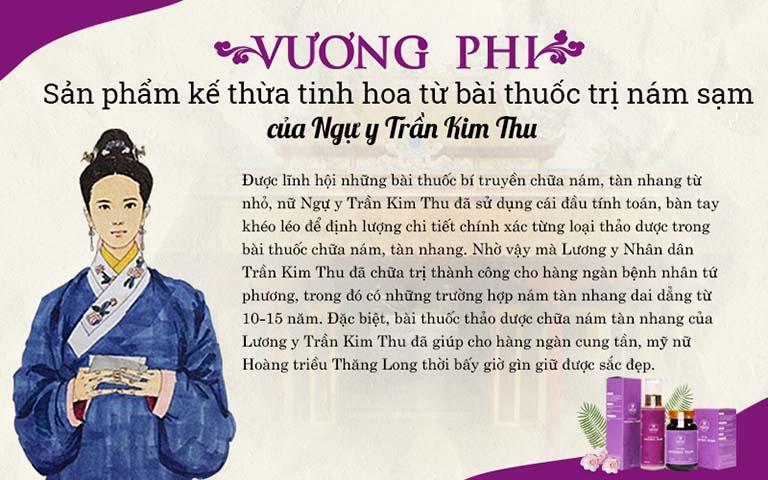 Vương Phi kế thừa tinh hoa từ bài thuốc trị nám, sạm của ngự y Hoàng triều Trần Kim Thu