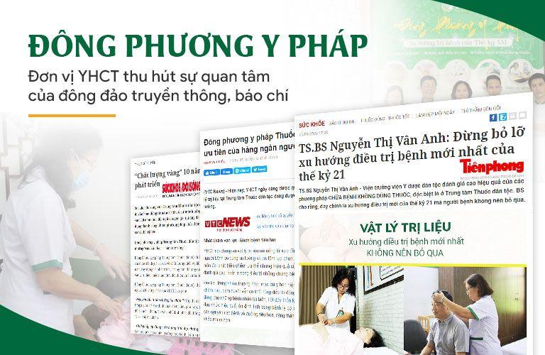 Đông phương Y pháp xuất hiện trên nhiều trang báo