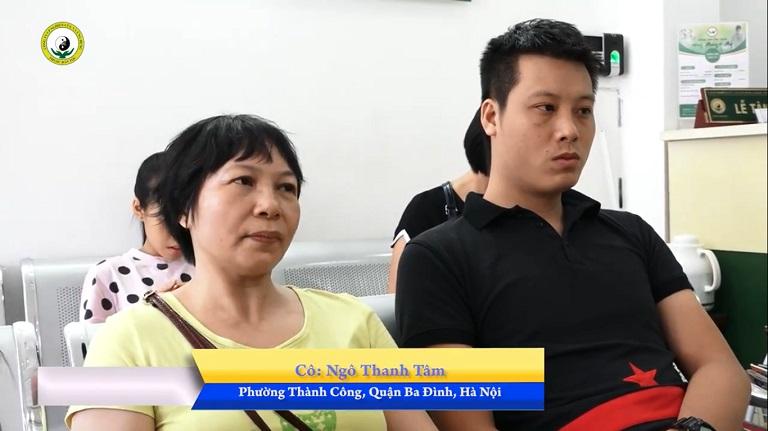 Cô Ngô Thanh Tâm (Hà Nội) và con trai