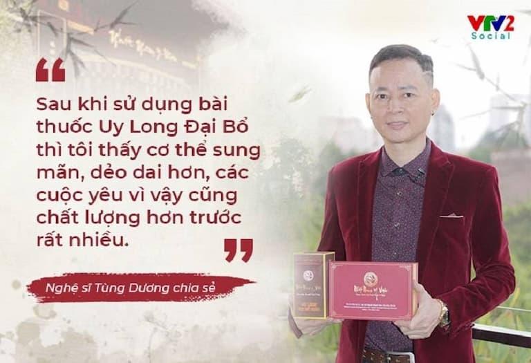 Nghệ sĩ Tùng Dương chia sẻ về bài thuốc Uy Long Đại Bổ