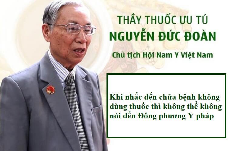 thầy thuốc ưu tú, chuyên viên cao cấp Bộ Y tế Nguyễn Đức Đoàn