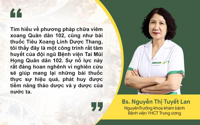 Bác sĩ Tuyết Lan đánh giá cao Tiêu xoang linh dược thang