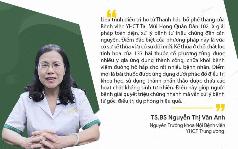Bác sĩ Vân Anh chia sẻ về bài thuốc Thanh hầu bổ phế thang