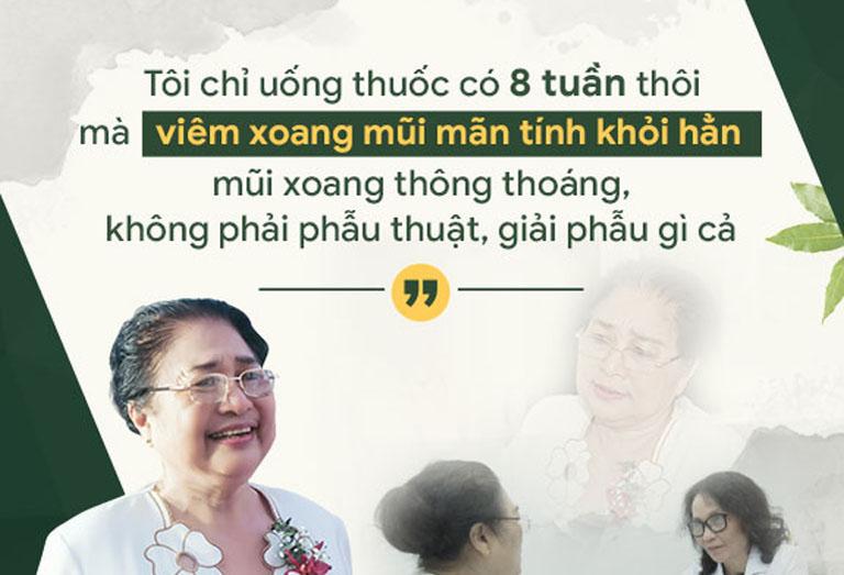Nghệ sĩ Kim Xuyến điều trị viêm xoang mãn tính thành công nhờ Tiêu xoang linh dược thang