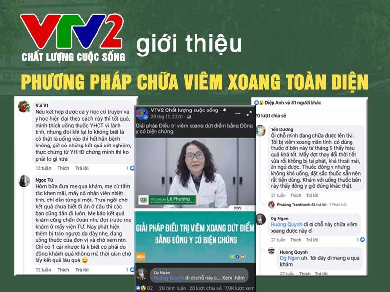 VTV2 đưa tin, đánh giá cao Tiêu xoang linh dược thang