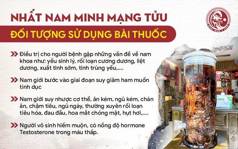 Nhất Nam Minh Mạng Tửu nổi bật với nhiều công dụng đặc biệt